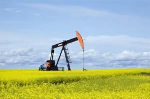 Oil & Gas Rig in Field