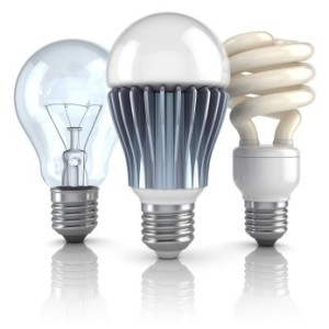Incandescent LED CFL Bulbs
