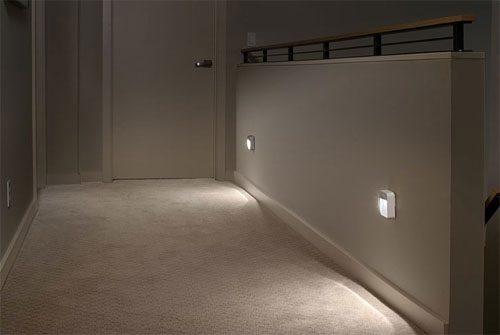 Mr. Beams Stick Anywhere LED Night Lights are great for hallways