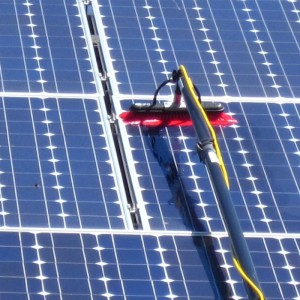 Solar panels need to be clean to produce energy