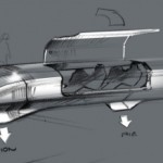 Elon Musk's sketch of the Hyperloop transportation pod