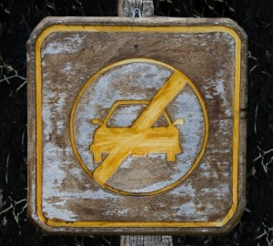 Driving not allowed