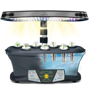 Aerogarden uses LED lights and Hydroponics to grow indoor gardens