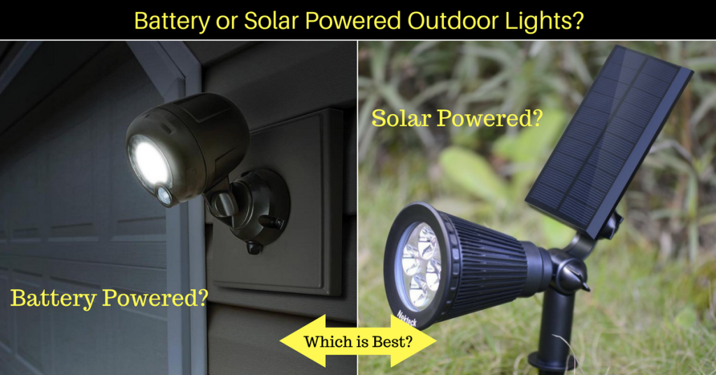 your handy guide to wireless outdoor landscape lights solar vs battery powered leds. Black Bedroom Furniture Sets. Home Design Ideas