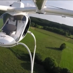 Would you take an Uber style taxi in an autonomous Volocopter battery powered drone?